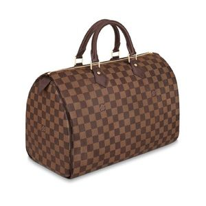 Louis Vuitton Speedy 35 Damier Ebene Handbag Tote